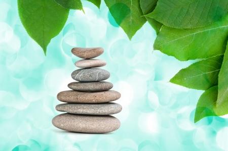 spa concept zen gray stones  photo