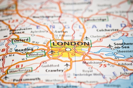 London on a map