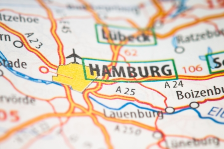 Hamburg on a map photo