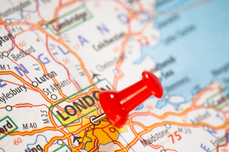 London on a map Stock Photo - 14365609
