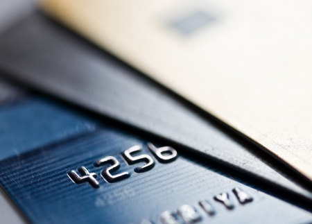 electronic card: Credit cards  Stock Photo