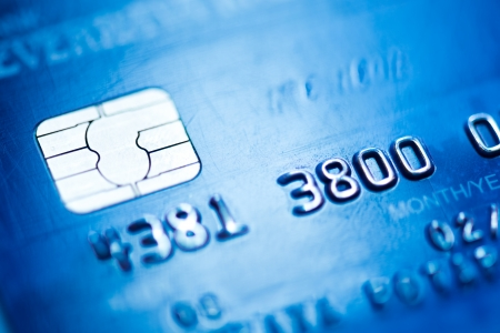 credit card, macro photo