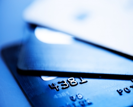 cashpoint: Credit cards  Stock Photo