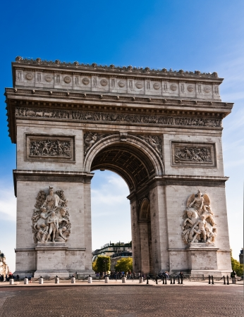 The Arc deTriomphe in Paris