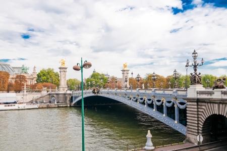 alexandre: Pont Alexandre III - Bridge over river Seine in Paris, France.