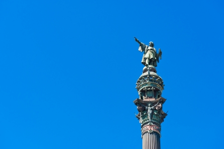 Christopher Columbus statue in Barcelona, Spain  Stock Photo - 15816599