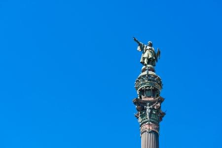 Christopher Columbus statue in Barcelona, Spain  Stock Photo - 15816599