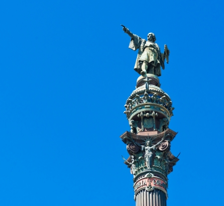 Christopher Columbus statue in Barcelona, Spain  Stock Photo - 15816594