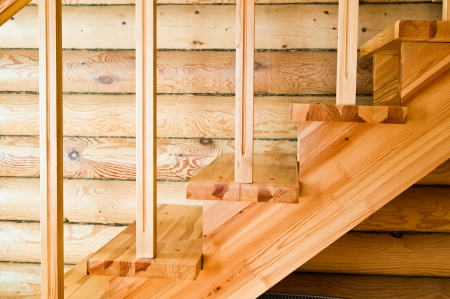 Wooden staircase  photo