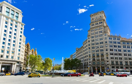 In the streets of Barcelona, Eixample district  Spain