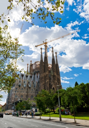 Sagrada Familia Temple in Barcelona Stock Photo - 16348715