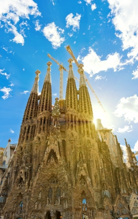 Sagrada Familia Temple in Barcelona Stock Photo