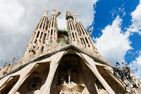 sagrada familia: Sagrada Familia Temple in Barcelona Stock Photo