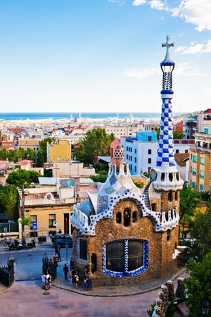 Park Guell in Barcelona, Spain Editorial