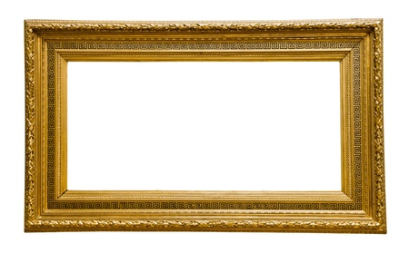 vintage gold  frame, isolated on white Stock Photo - 16536642