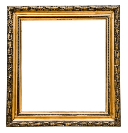vintage gold  frame, isolated on white Stock Photo - 16536536