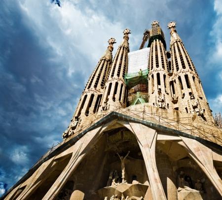 Sagrada Familia Temple in Barcelona Editorial