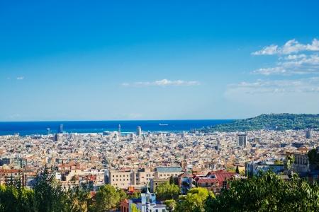 tibidabo: Cityscape of Barcelona. Spain.