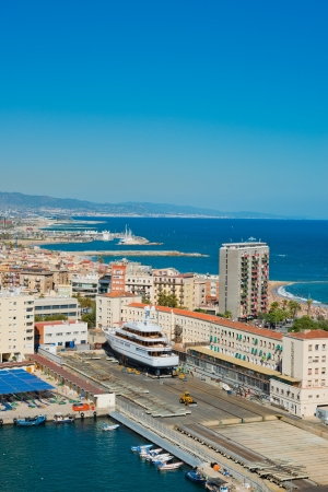 Aerial view of the Harbor district in Barcelona, Spain  Stock Photo - 17202068