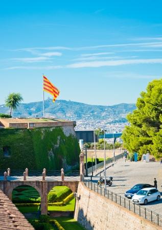 View of Castell de Montjuich, in Barcelona Spain  Stock Photo - 17202082