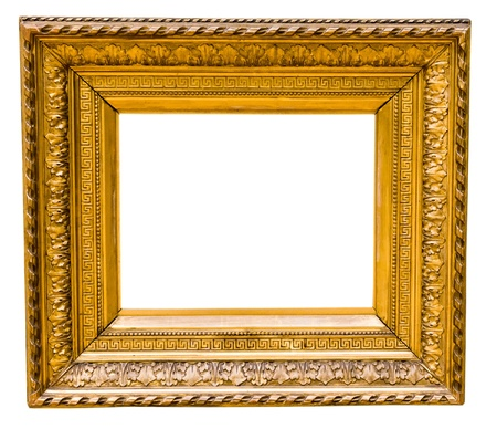 vintage gold frame, isolated on white Stock Photo - 17205879