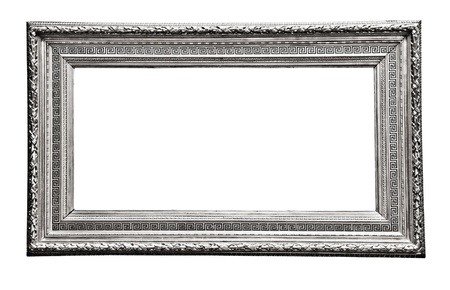 vintage silver  frame, isolated on white Stock Photo - 17204010
