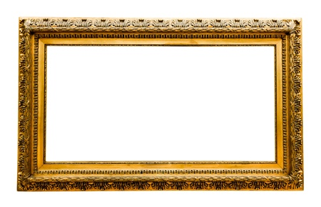 vintage gold frame, isolated on white  Stock Photo - 17205810