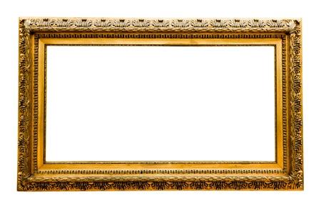 vintage gold frame, isolated on white Stock Photo - 17205810