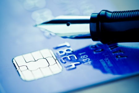 Credit card and pen  Stock Photo - 17205964