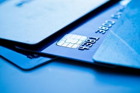 cashless: Credit cards  Stock Photo