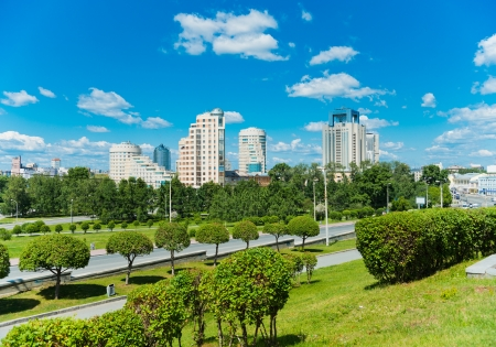 City park in Yekaterinburg, Russia  photo