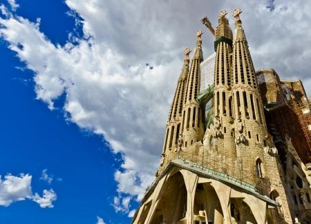 Sagrada Familia Temple in Barcelona 에디토리얼