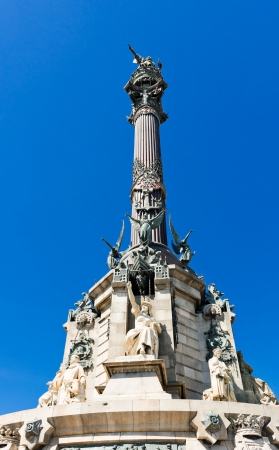 the Columbus Monument in Barcelona, Spain  photo