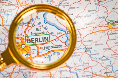 Berlin on a map photo