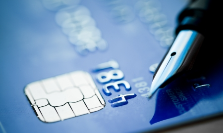 Credit card and pen  Stock Photo - 17668801