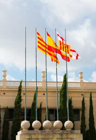 spanish flags photo