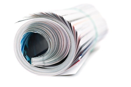 magazine roll on white background Stock Photo - 18073134