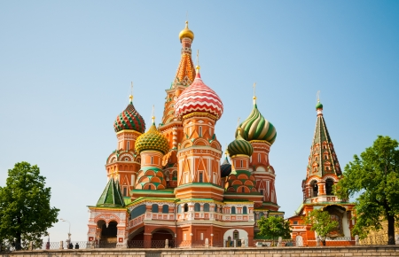 moscow churches: Saint Basils Cathedral in Moscow, Russia