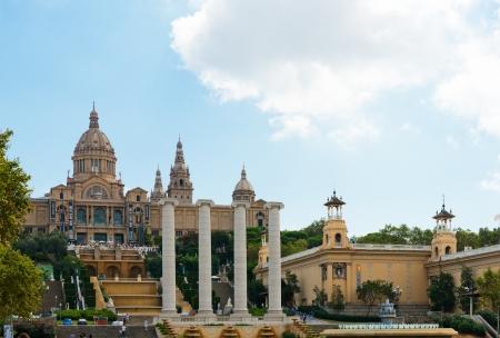 art museum: BARCELLONA, SPAGNA - 21 settembre: Palau Nazionale di Montjuic, nel settembre 2012 a Barcellona, ??Spagna. Palazzo Nazionale di Montjuic � ora conosciuto come il Museo Nazionale d'Arte della Catalogna.