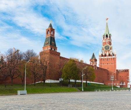 spasskaya: The Saviour (Spasskaya) Tower of Moscow Kremlin, Russia.