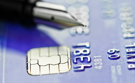 Credit card and pen Stock Photo - 18670222