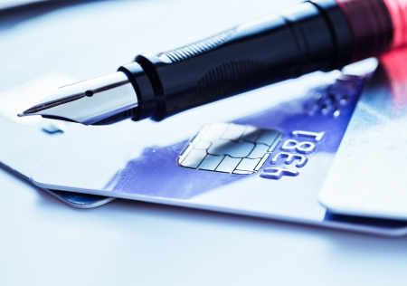 Credit card and pen Stock Photo - 18670102