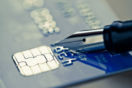 Credit card and pen  Stock Photo - 19037721