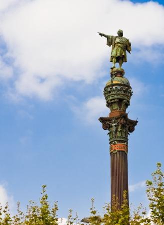 Statua di Cristoforo Colombo a Barcellona, ??Spagna (E 'stato costruito nel 1888)