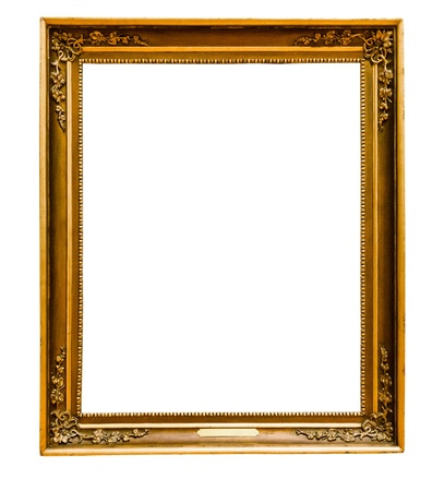 Gold vintage frame isolated on white background  Stock Photo - 20315706