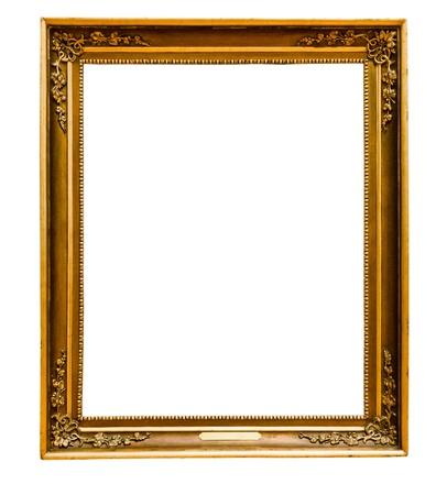 Gold vintage frame isolated on white background Stock Photo - 20315706