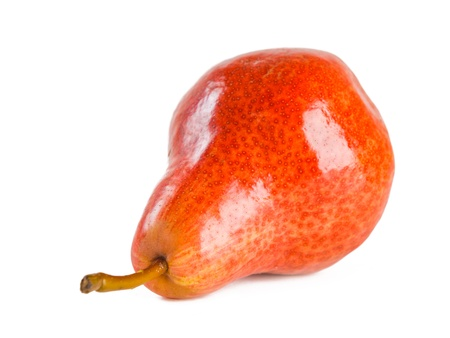 red pear on white Stock Photo - 21125178