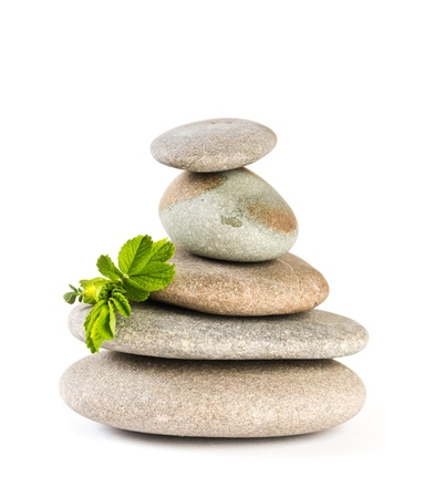 Zen pebbles balance. Spa and healthcare concept.  Stock Photo - 21125051