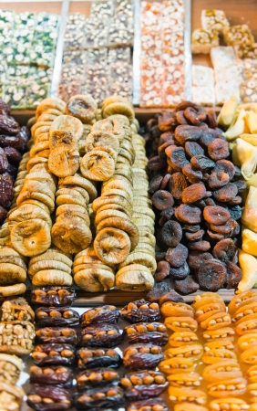 Dried fruit at Spice Market in Istanbul, Turkey  photo