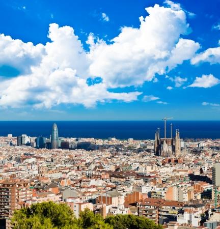 Cityscape of Barcelona. Spain. 스톡 콘텐츠